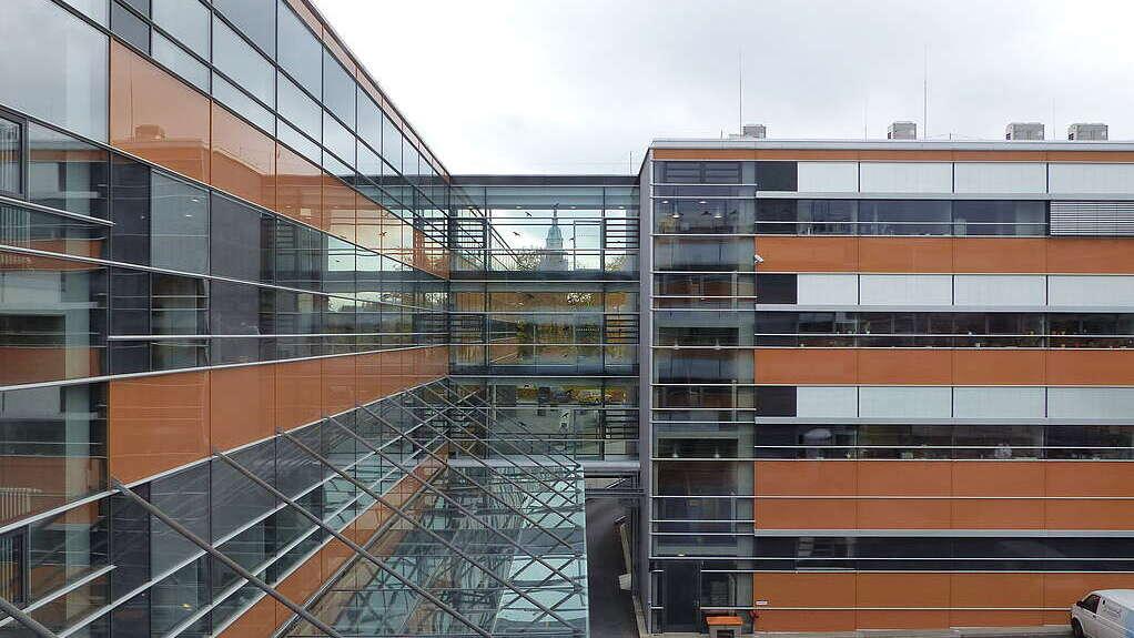 Dienstgebäude in Bad Langensalza, Blick vom Innenhof auf die Fassade