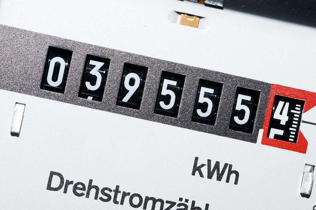 Display eines Stromverbrauchszählers