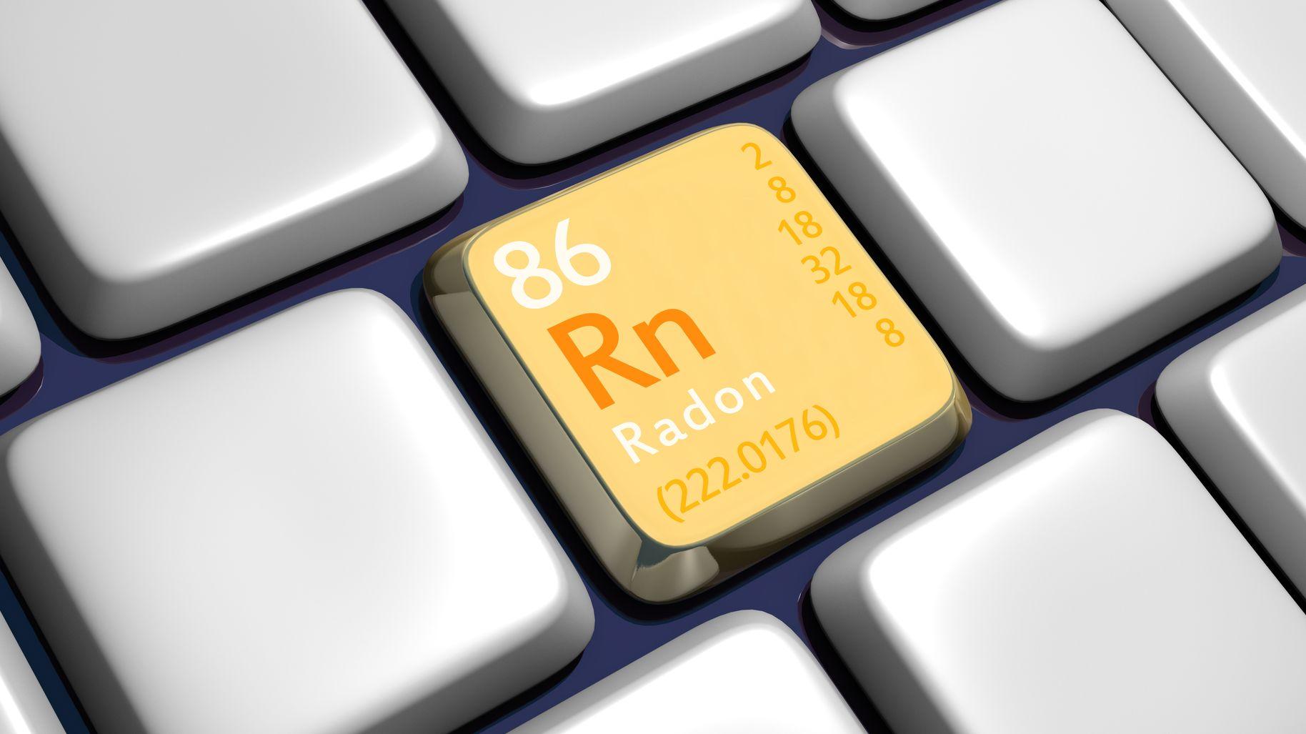 """Ausschnitt einer Tastatur mit Radon-Zeichen """"Rn 86"""""""